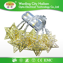 Manufacturer Hanging Celebrations Festival Xmas Iron 10led Heart/Star/Ball/Tree Led Christmas Lights