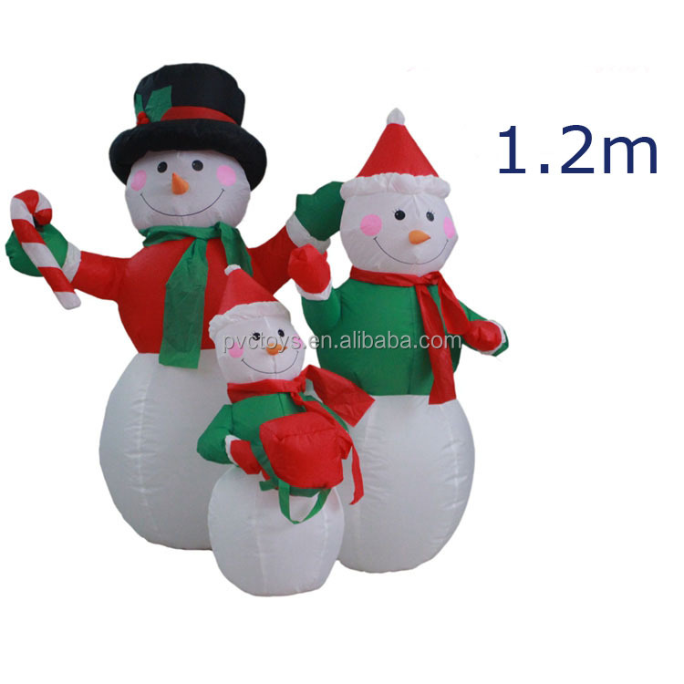 Polyester inflatable Christmas snowman family products, inflatable Christmas decorations