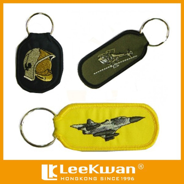 CUSTOM PLAIN VEHICLE EMBROIDERY KEY CHAIN FOR BUSINESS GIFT