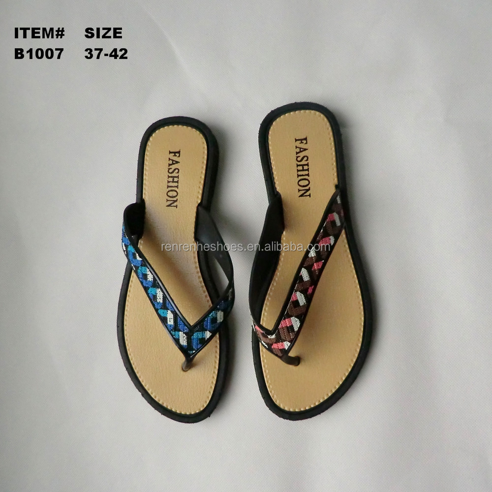 PVC Summer beach flip flops for women