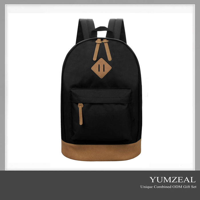 leather logo custom large laptop bag back pack backpack for promotion