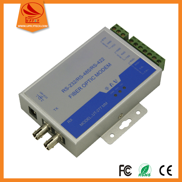 High Quality 9-48VDC Multi Mode RS232 RS485 RS422 to Fiber Optic Modem