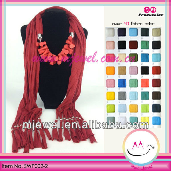 Chic wholesale long jeweled scarf
