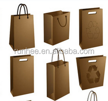 supplies recycled grocery 2 3 layer kraft paper bag Small Brown Kraft Paper Bags with printing