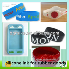 screen printing silicone ink for silicone rubber goods swimming cap wristband