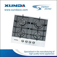 F4-B60 Xunda 4 -burner glass gas built in hob with luxury aluminum frame