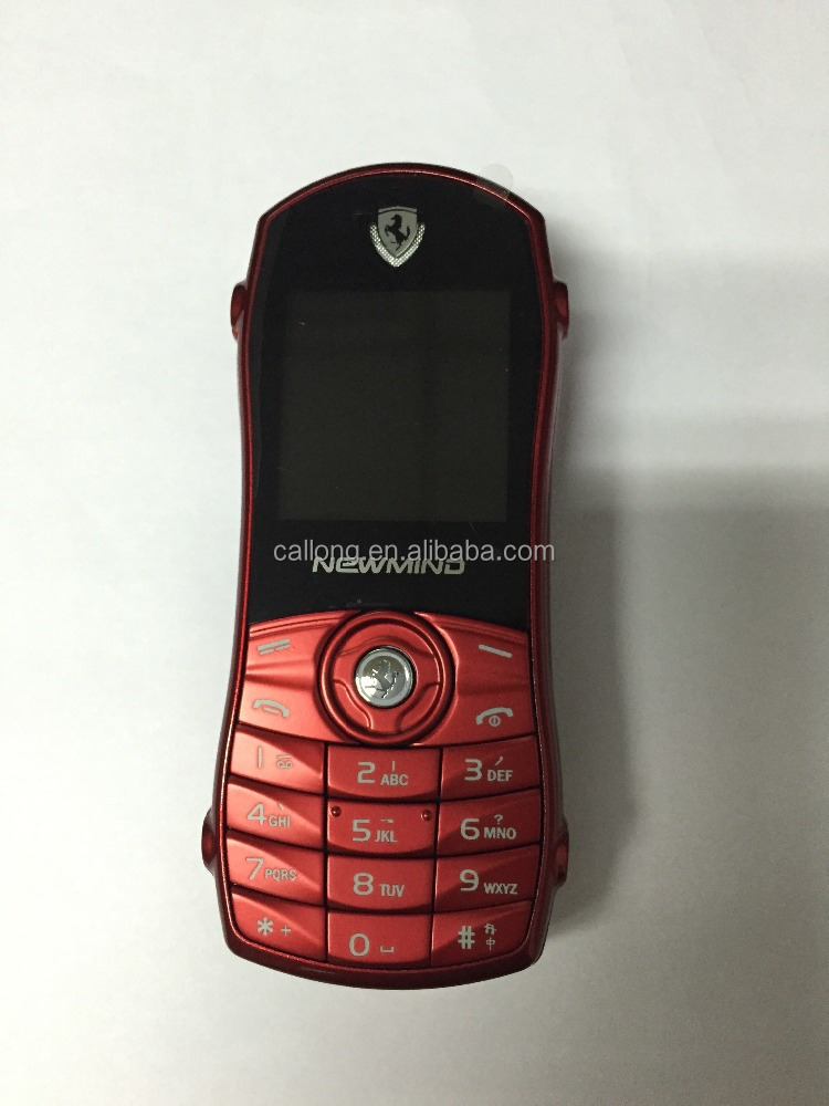 Alibaba cheap hot selling mini car shaped mobile phone