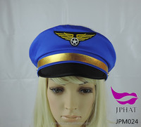 Pilot cap blue captain hat police caps and hats uniform hat