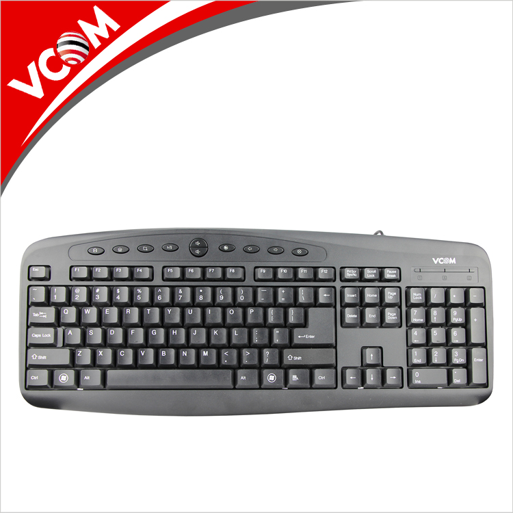 VCOM 2018 Professional Wired Computer Multimedia LED Gaming Keyboard for PC desktop