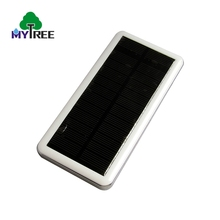 High quality durable white dual usb port polymer battery type handy solar charger classical power bank for mobile phone