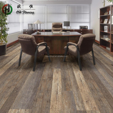 100% Virgin Material Interlock Wood PVC Flooring Vinyl Tile