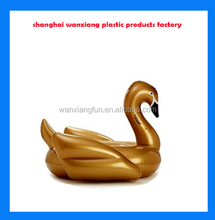 pvc play swim on water inflatable swan float