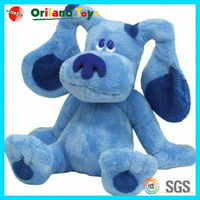 custom design stuffed animal blue dog
