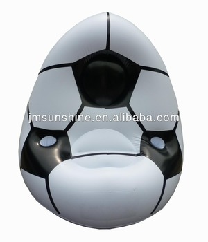 2014 world cup PVC inflatable adult football chair / soccer shaped sofa