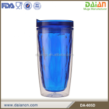 wholesale coffee reusable double wall mug plastic