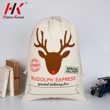 Alibaba com wholesale low MOQ personalized christmas bag canvas