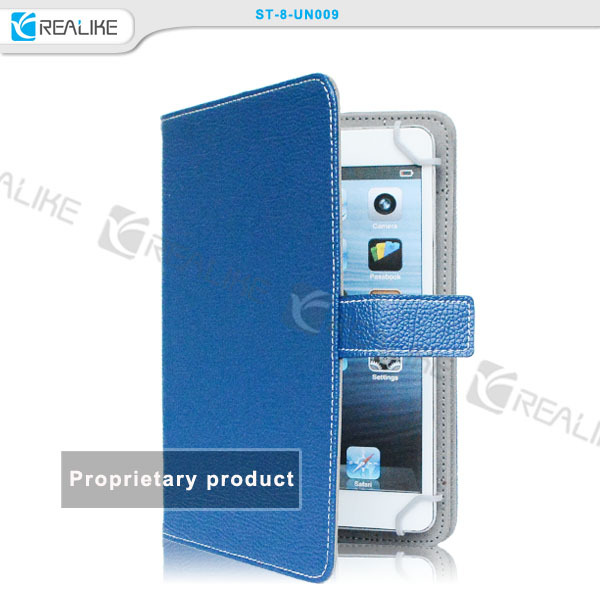 2014 new tablets accessories universal 8.1 tablet leather case