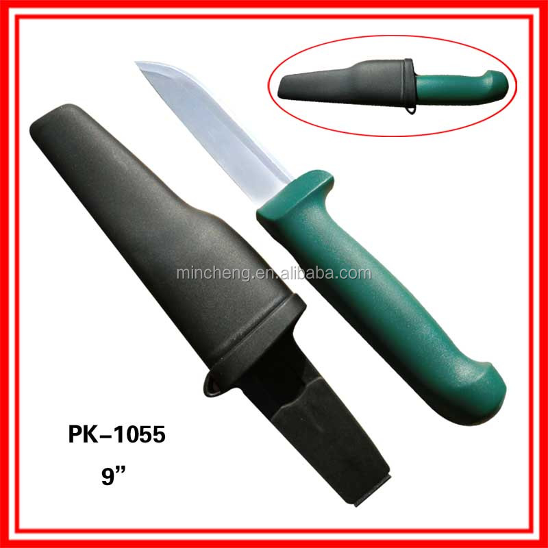 New Arrival stainless steel fishing knife with cover for sale