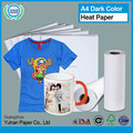 China wholesale self cutting forever dark sublimation transfer paper high glossy printing inkjet heat transfer paper