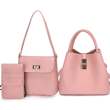 2019 Hot sell Luxury PU Women Hand <strong>bag</strong> 3 in 1 Set <strong>Bag</strong> <strong>Tote</strong> <strong>Bag</strong> For Wholesale