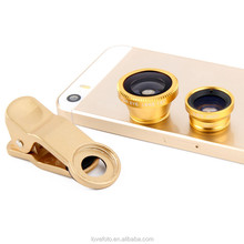 3-In-1 Fisheye + Wide Angle + Macro Mobile Phone Camera Lens for Samsung Galaxy S3 S4 N7100 Note 3 iPhone 5 5G 5S