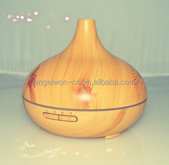 300ml wood finish ultrasonic aromatherapy essential oil diffuser ultrasonic humidifier air purifier with 7 color led light