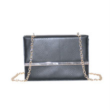 High quality Snake skin quilted leather chain bag