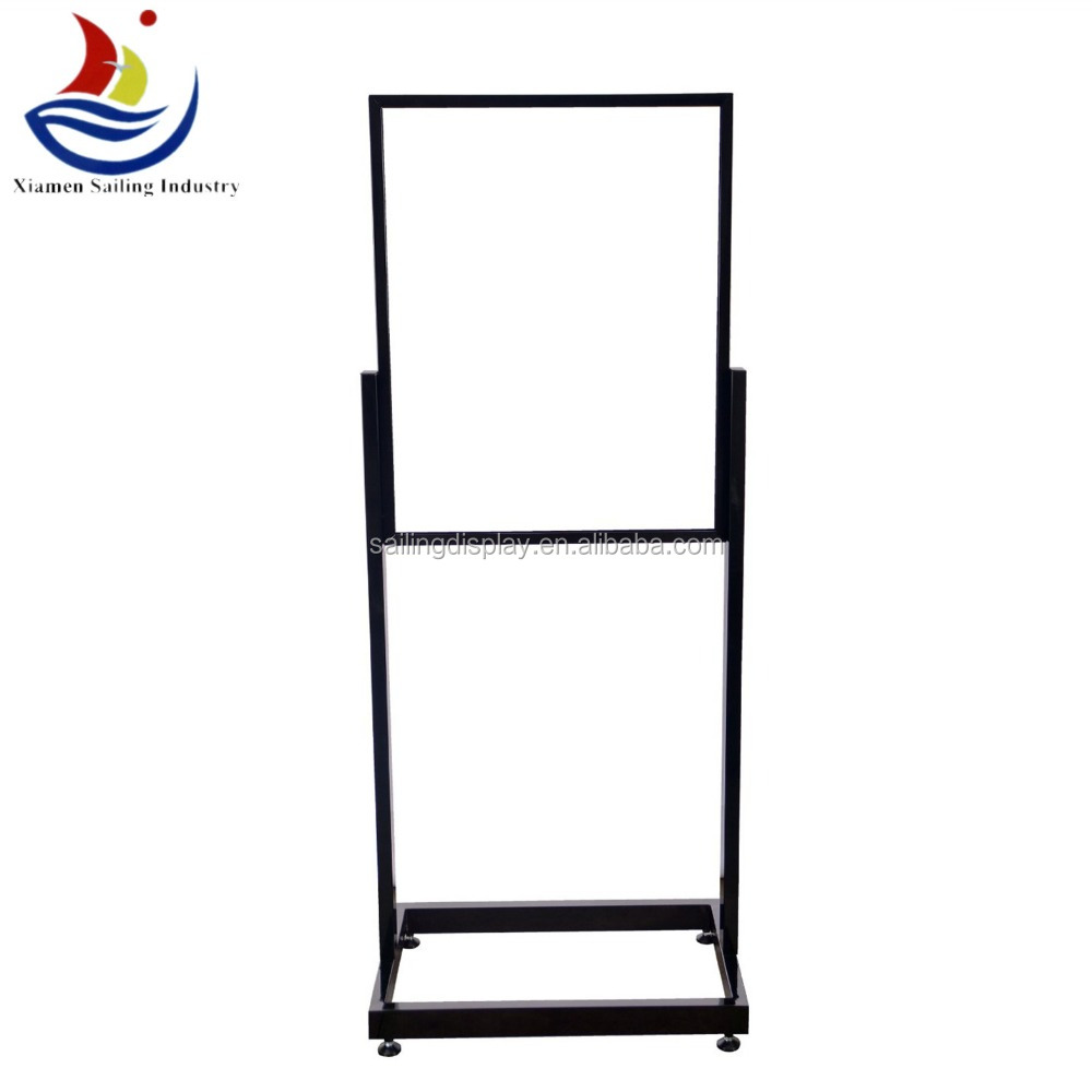 Adjustable Menu Promotions metal free standing sign holders 2-sided sign holder 2-sided sign holder