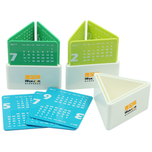 Triangle desk calendar pen holder,Plastic pen holder desk calendar