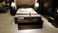 Home Furniture Living Room Solid Wood Luxury Elegant Bed