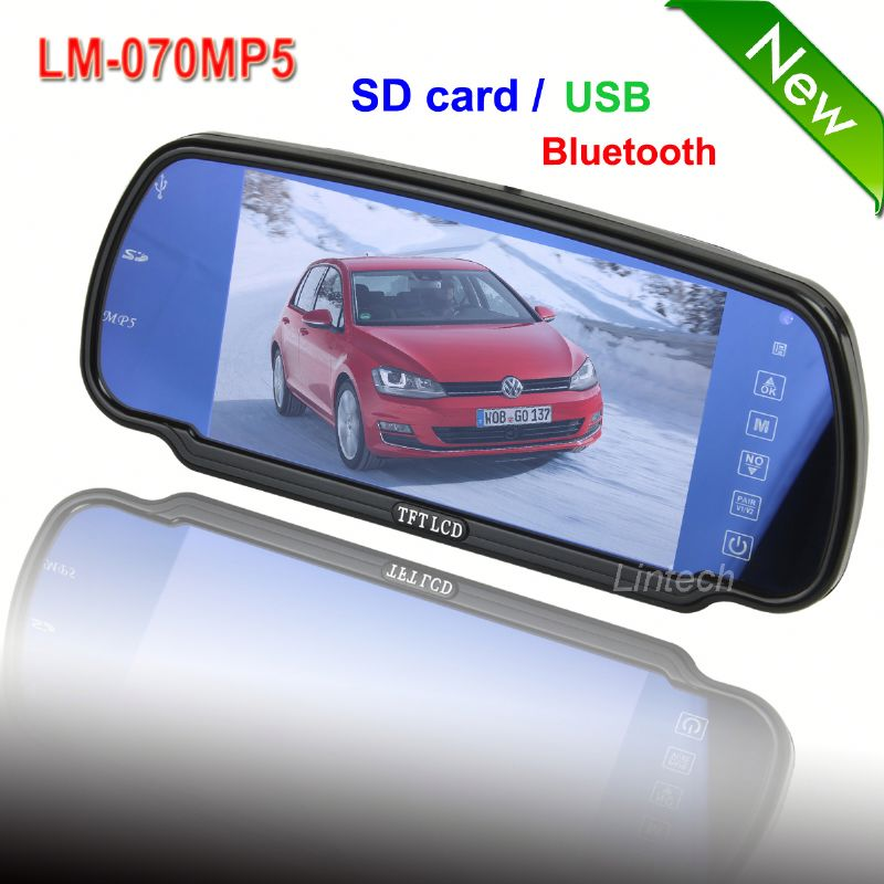 2013 new products 7 inch roof car lcd monitor with hdmi input (LM-070MP5)