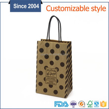 New product grocery flat bottom natural kraft stand up paper bag with handles