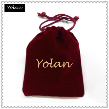 promotional bag velvet pouch printed shop name