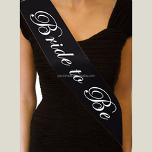 New Arrival Black Bride to be Sash For Hen Night Bachelorette Bridal Shower Party