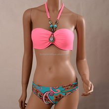Cheap Drip Halter Neck Two Piece Swimsuit Two Piece Lady Swimwear