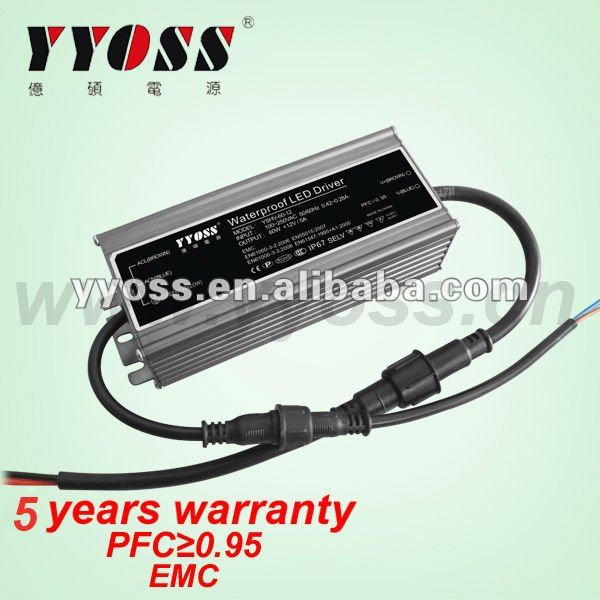 Constant Voltage 24V Waterproof regulated power supply 60W 5 year warranty