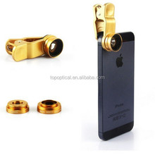 Universal clip 3 in 1 fisheye lens for mobile phone