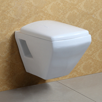 Wall Hung Ceramic Water Closet with Concealed Tank