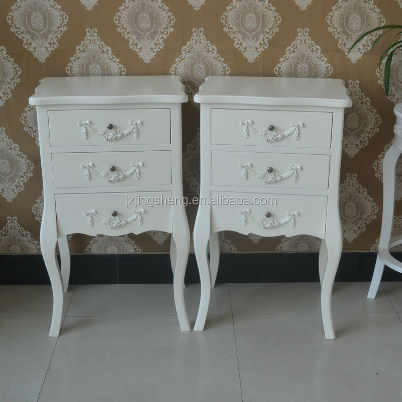 French Country Style Ivory Nightstand Unique Wooden Chest Of - French country nightstand