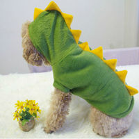 5 Sizes Puppy Hoodie Fancy Coat Pet Dog Cat Cute DINOSAUR Costume Outfit Clothes