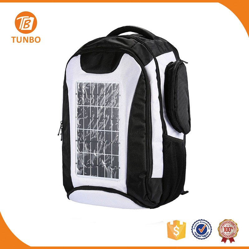New design solar bag camping chargeable laptop solar charger backpack