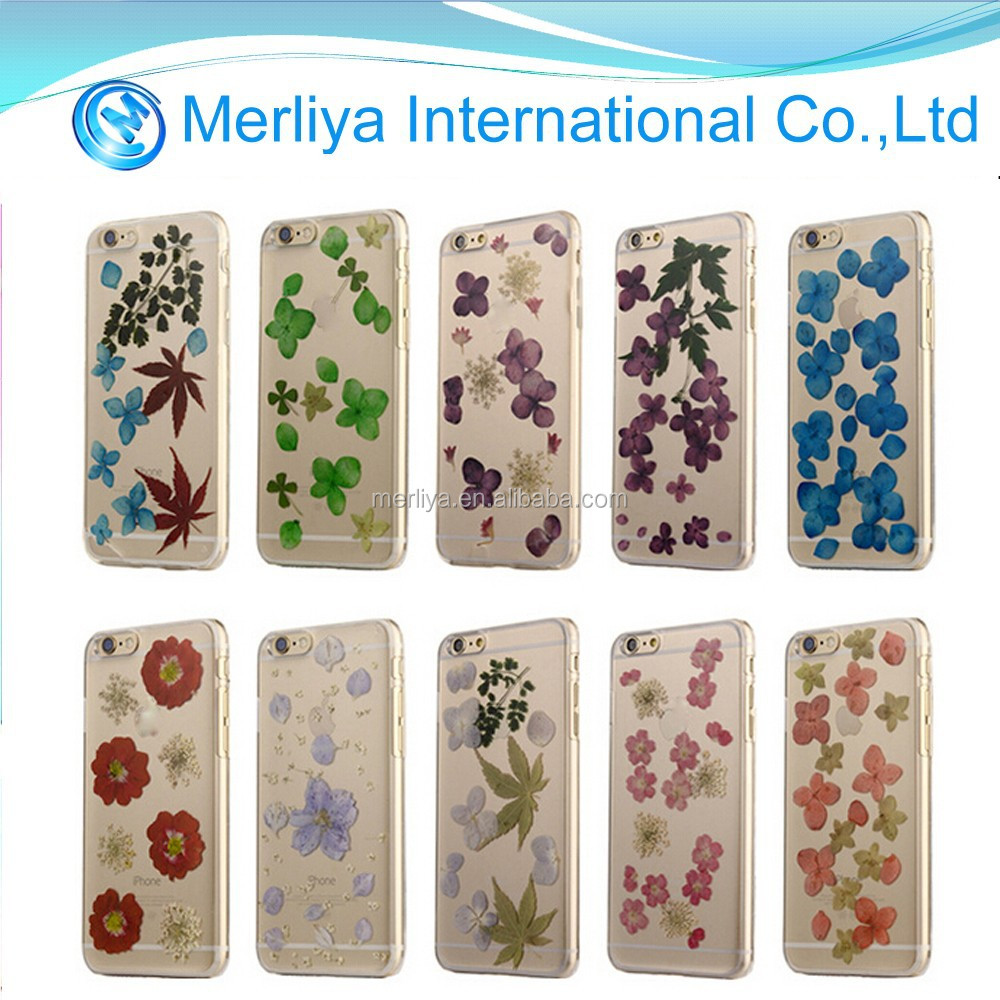 Generic Personalized Pressed Flower Floral TPU Rubber Phone Case for iPhone5/5s