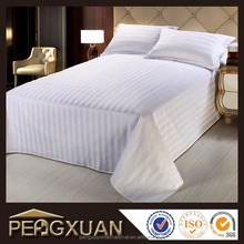 Luxury Star Hotel Textile Supply, Satin Stripe Hotel Bedding sets, High Quality Custom Bed sheet
