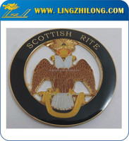 Gold Eagle Emblem, Round Car Logo Emblem, Zinc Alloy Car Logos