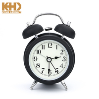 KH-CL092 KINGHEIGHT 2018 Promotional Round Metal Retro Desktop Double Bell Table Mechanical Alarm Clock