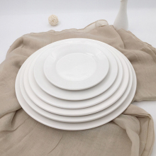 Hotel restaurant daily use high quality food contact safe new bone porcelain serving plates for weddings