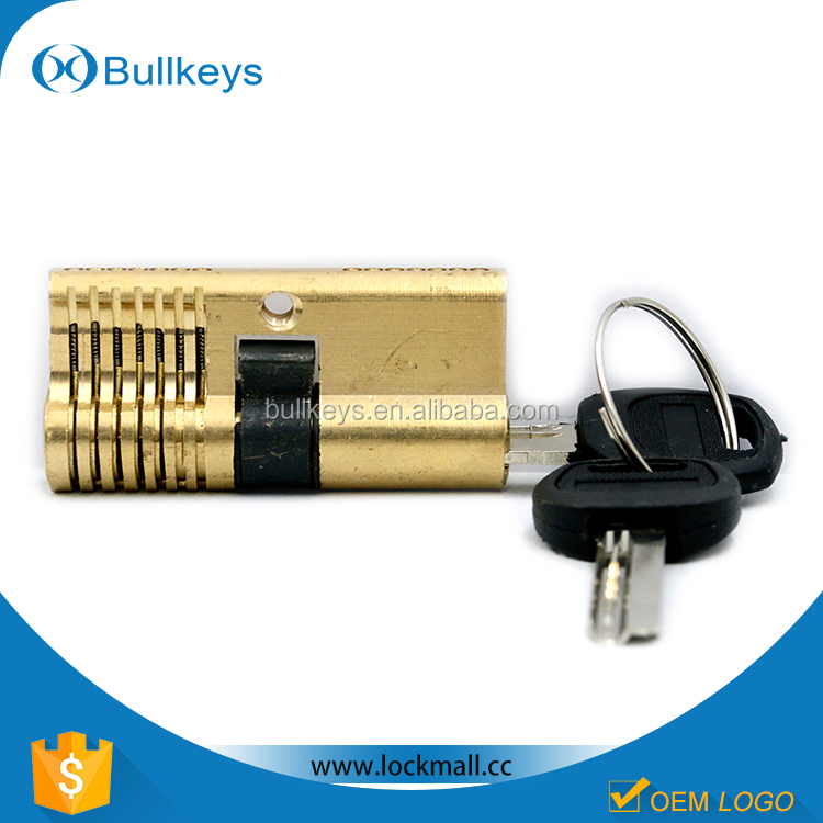 2016 Bullkeys manufacturer high quality Practice your lock picking with this basic 7 pin brass Lock TL0025