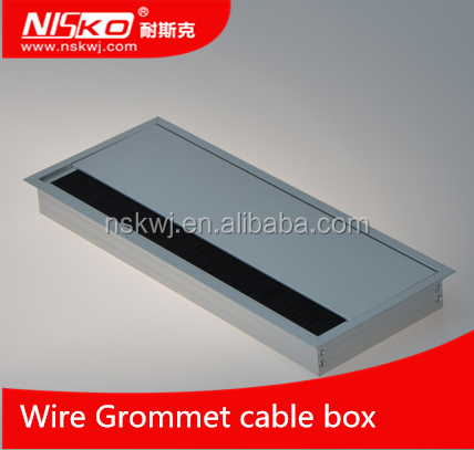 Aluminum Alloy Wire Grommet Cable Box And For Office,Computer Desk,TV Cabinet