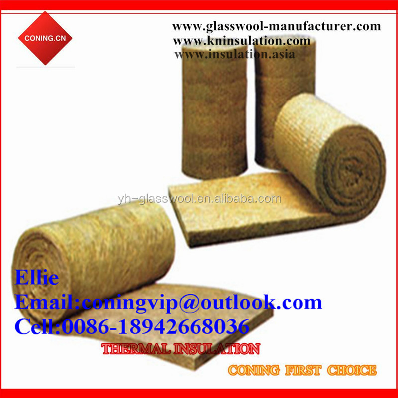 Fireproof Rock wool blanket wire mesh thermal insulation/rockwool for oven
