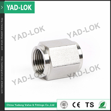 YAD-LOK Female Threaded Stainless Steel Hex Pipe Fitting Barrel Nipple Long Nipples